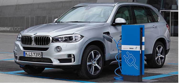 electric car BMW X5 Plug-In
